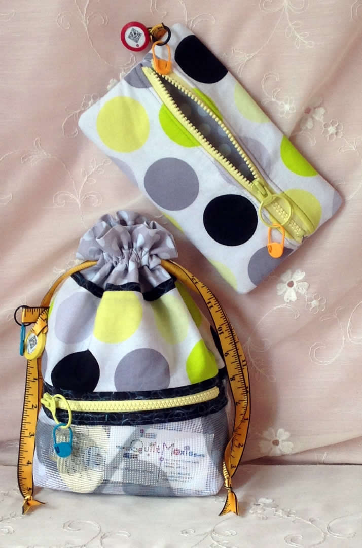 Drawstring Bag & matching Zipper Pouch